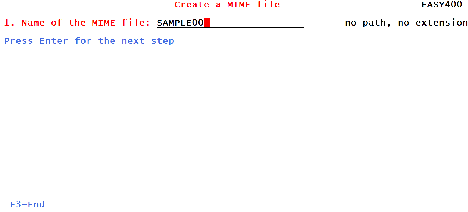 Create and send a MIME file